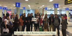 Penyambutan tiba di Bandara International Hatyai