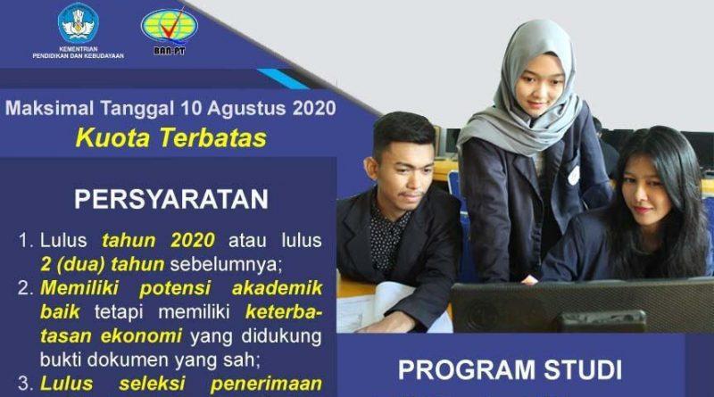 Pendaftaran Program Beasiswa KIP Kuliah Tahun 2020